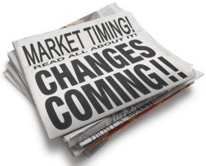 Market Timing newspaper headline