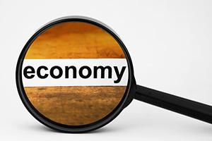 Economy seen through magnifying glass