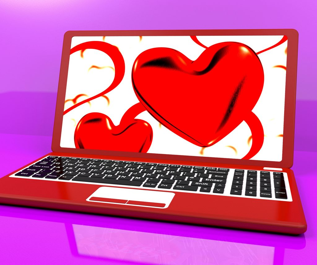 Red hearts on laptom show Romancing the NPM
